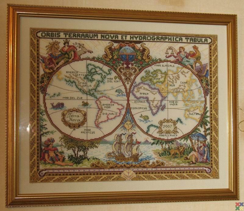 вышивка схемы карты мира