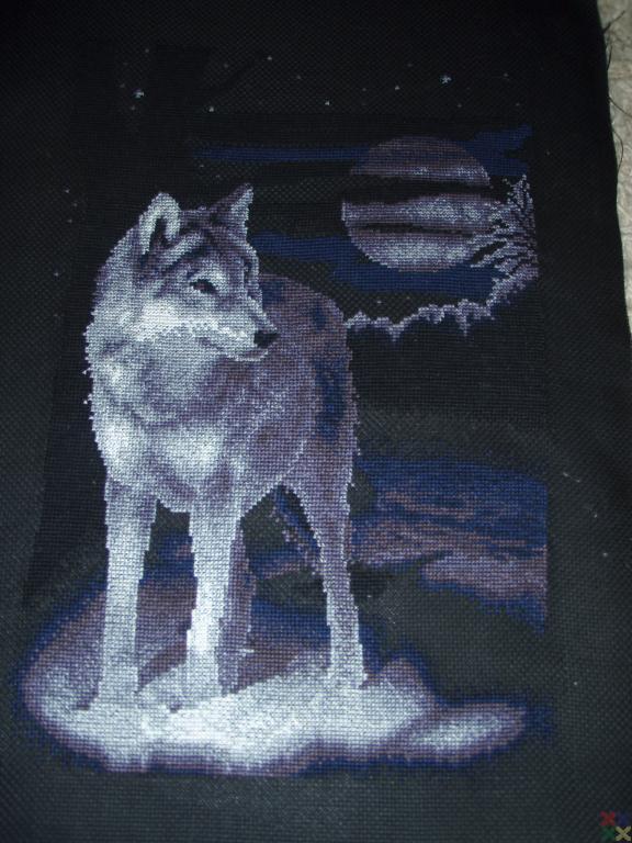 Вышивки крестом волк волки 73