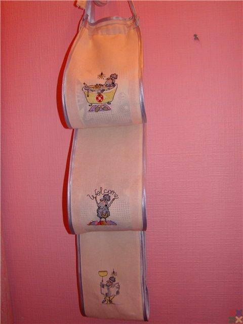 Держатель для бумаги туалетной вышивка 15