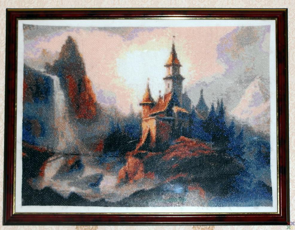 Вышивка замка Нойшванштайн - Риолис 40