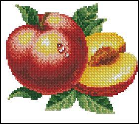 Вышивка крестиком: фрукты.