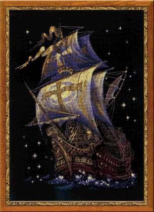 Риолис (Россия). канва для вышивания 5,5 Zweigart, мулине Anchor, буклет: цветная схема, игла для вышивания.