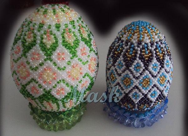 яйца в бисере схемы.