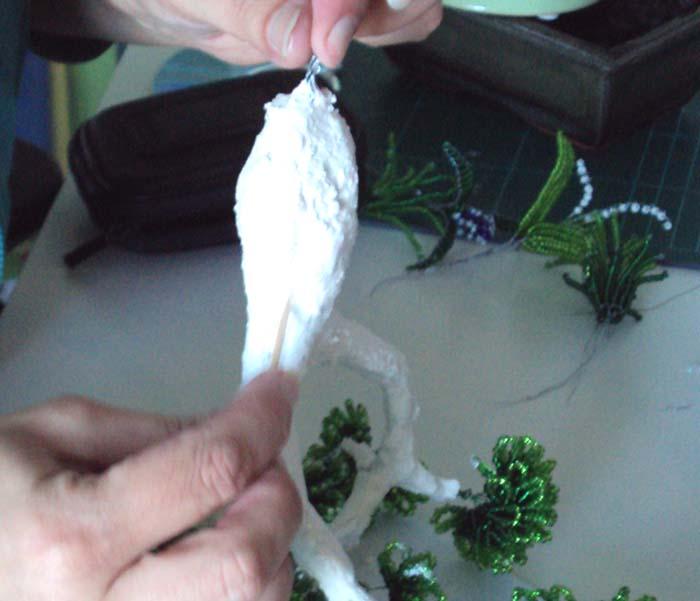 Схема бонсай из бисера.